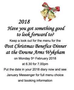 Benefice post Christmas dinner 18